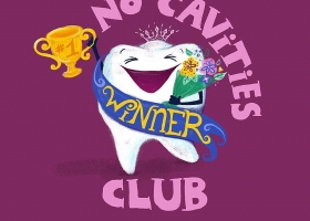 No Cavities Club digital painting