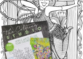 Sassy Flapper in Autumn 2016 Issue of The Coloring Studio Magazine