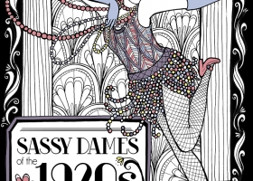 Coloring Book concept art - Sassy Dames of the 1920s
