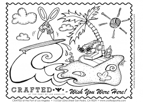Coloring Book Illustration for Crafted at the Port of Los Angeles
