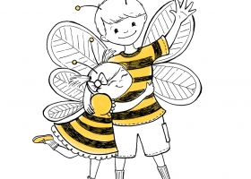Hugging Bees for JoyPhil Bees