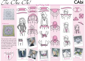 How to Tie a Scarf illustrations for CAbi