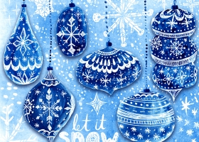 Blue Christmas Snowflakes