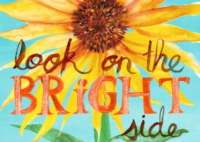 Look on the Bright Side sunflower illustration