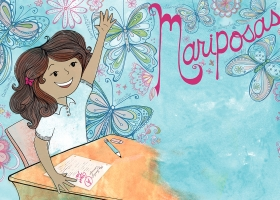 Mariposas editorial illustration for Spring 2016 issue of Teaching Tolerance magazine