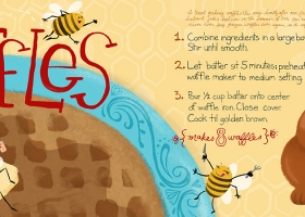 Honey Waffles recipe for They Draw and Cook