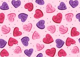 Conversation Hearts Valentine's Day Collection by Steph Calvert Art