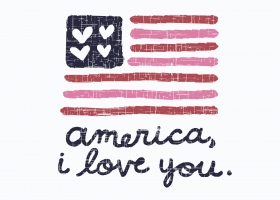 America I Love You illustration for Kohl's by Steph Calvert Art