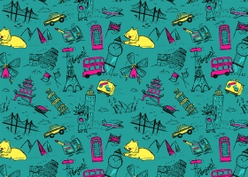 Travel Icons pattern for Target