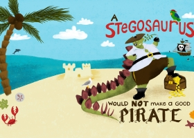 A Stegosaurus Would Not Make a Good Pirate for Capstone Publishing
