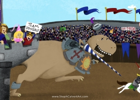 A T-Rex Would Not Make a Good Knight for Capstone Publishing