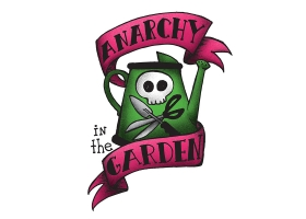 Anarchy in the Garden hand drawn logo