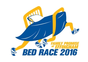 Bed Race illustrated logo
