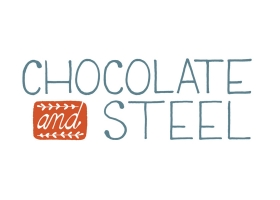 Chocolate and Steel hand lettered logo