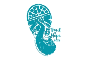 Trail of Hope 5k hand drawn logo