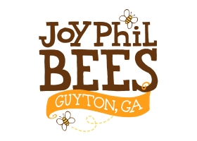 JoyPhil Bees hand drawn logo design