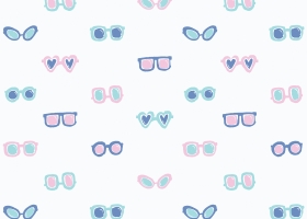 Conversational Sunglasses repeat pattern design for Kohl's