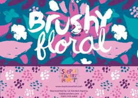 Brushy Floral collection