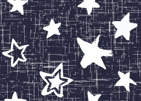 Conversational Handpainted Star Crazy repeat pattern for Kohl's by Steph Calvert Art