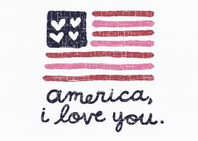 America I Love You illustration for Kohl's by Steph Calvert Art