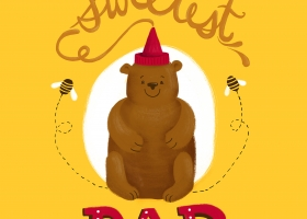 To the Sweetest Dad - Father's Day Illustration