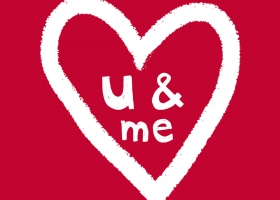 You and Me Valentine's Day hand lettering by Steph Calvert Art
