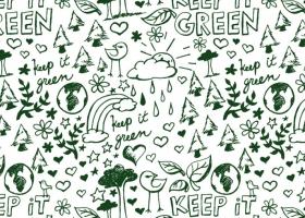 Keep it Green doodle pattern for Kohls