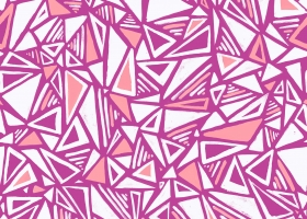 Conversational Handpainted Triangles repeat pattern design for Kohl's