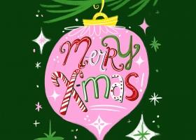 Merry Christmas Hand Lettering by Steph Calvert Art