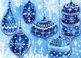 Blue Christmas Snowflakes