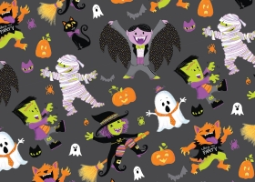 This is Halloween collection - characters, repeat patterns, typography. Request a viewing today!