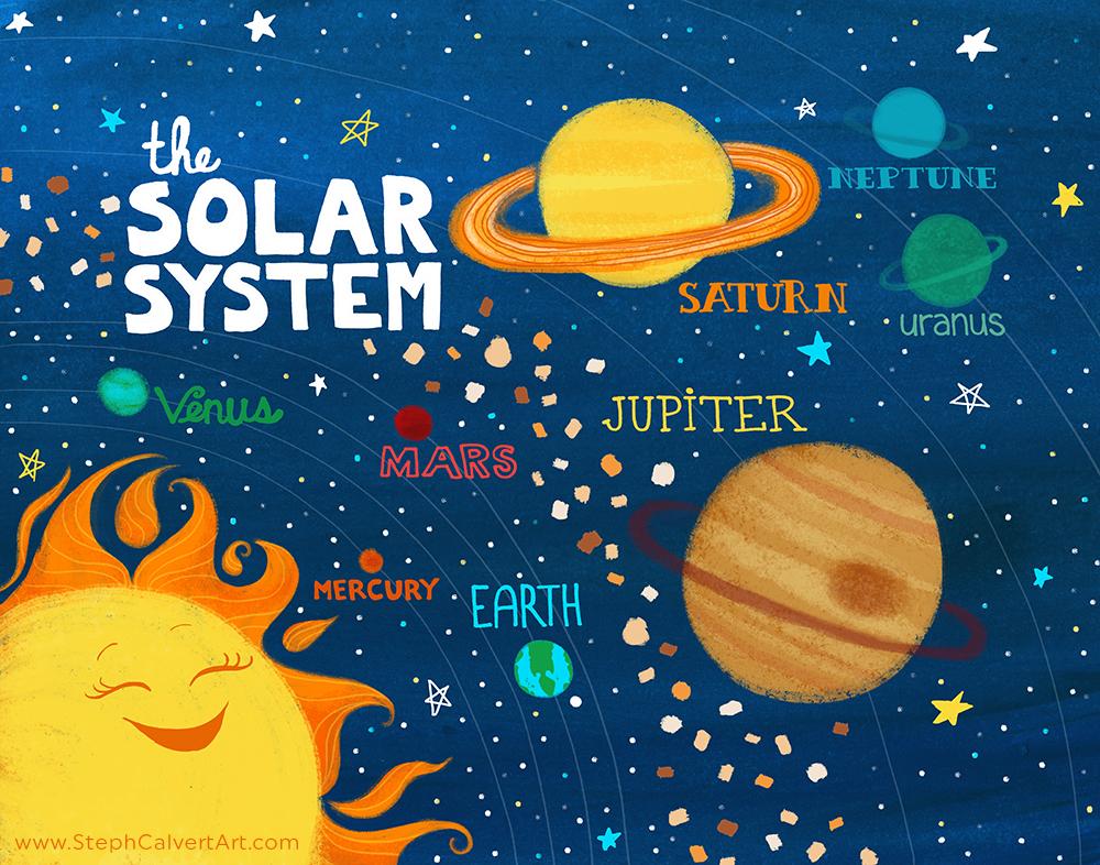 Travel illustrations by award winning illustrator steph for Solar for kids