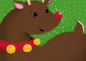 Happy Christmas Friends - Reindeer