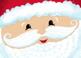 Happy Christmas Friends - Santa