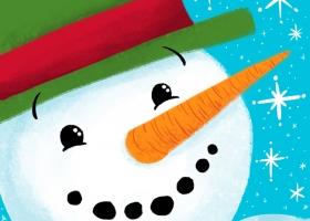 Happy Christmas Friends - Snowman