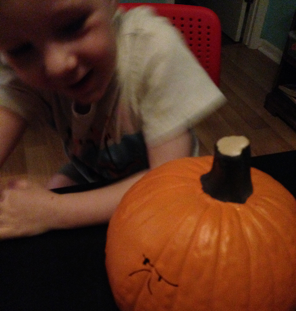 Halloween Crafts - Hand Drawn Pumpkins - Hearts and Laserbeams