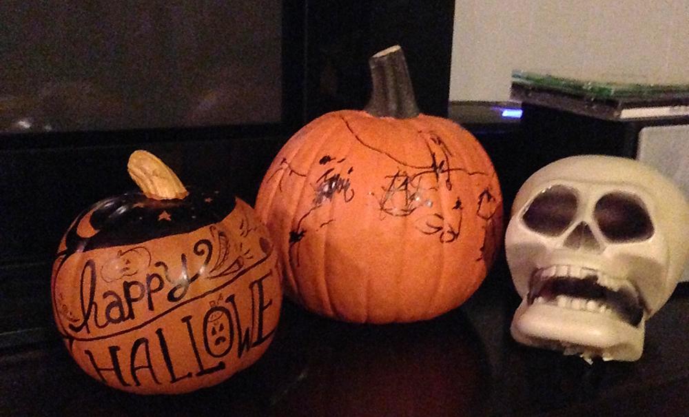 DIY Home Decor - Easy Halloween Decorations - Hand Drawn Pumpkin