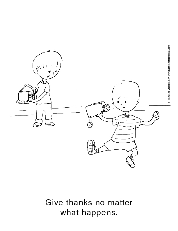 Always be Joyful - Bible Verses for Kids Free Coloring Sheets by Hearts and Laserbeams