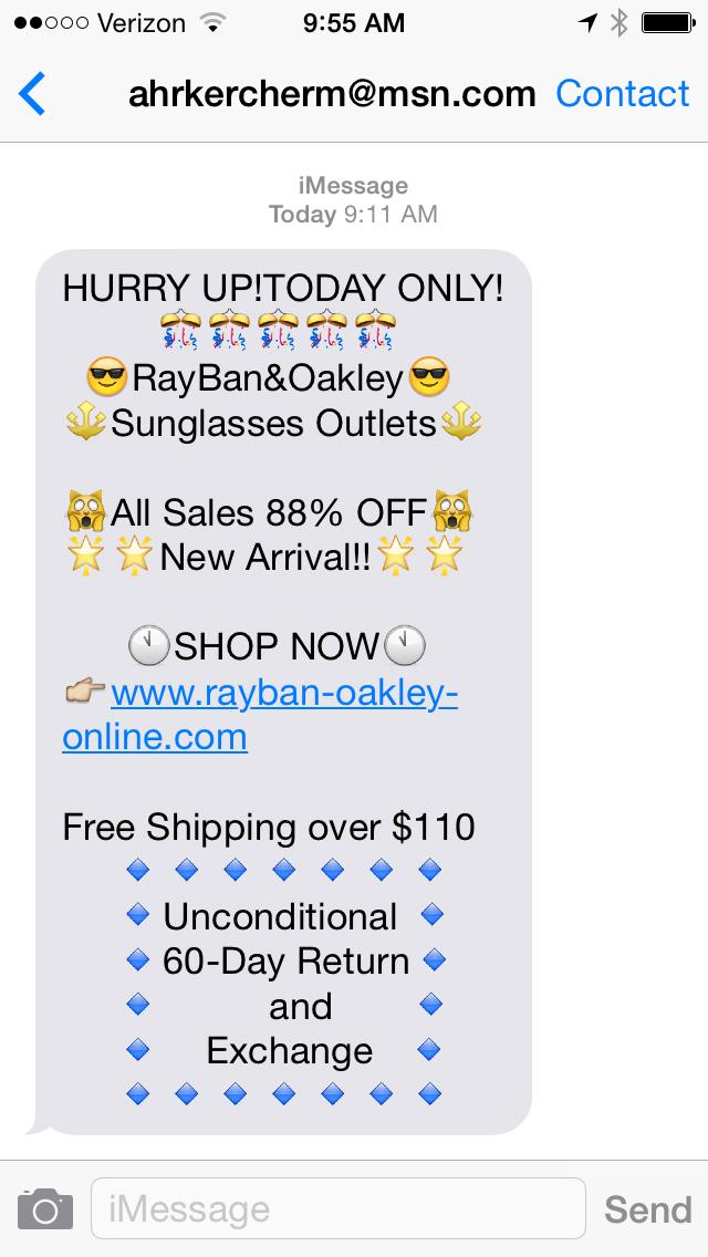 Fun with Spam Text Messages - Steph Calvert Art
