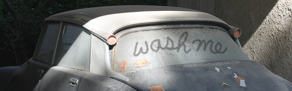 Ways to Save Water - Save Water Don't Wash Your Car - Hearts and Laserbeams