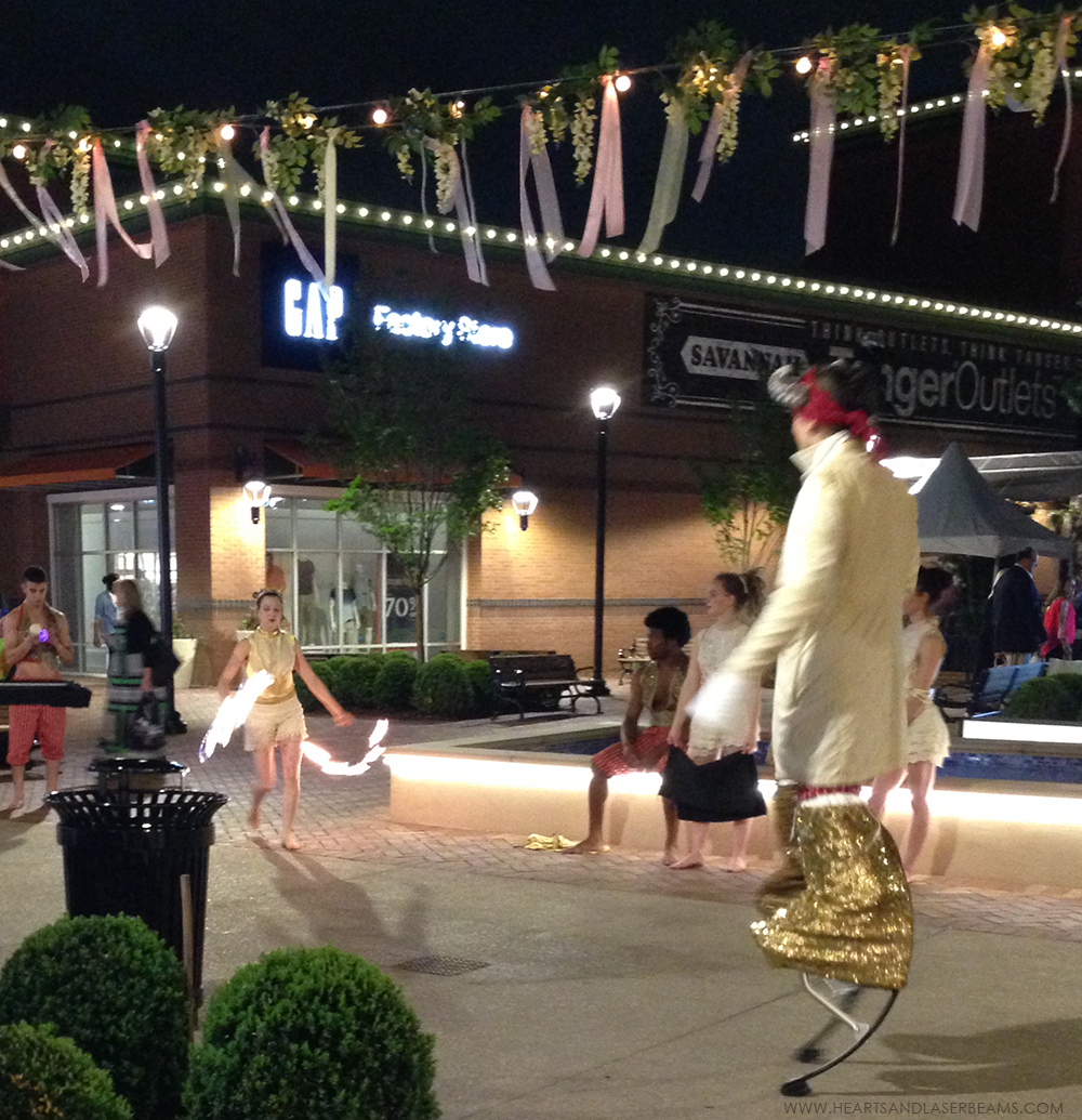 Tanger Outlet Mall in Pooler Opening Night Party - Hearts and Laserbeams