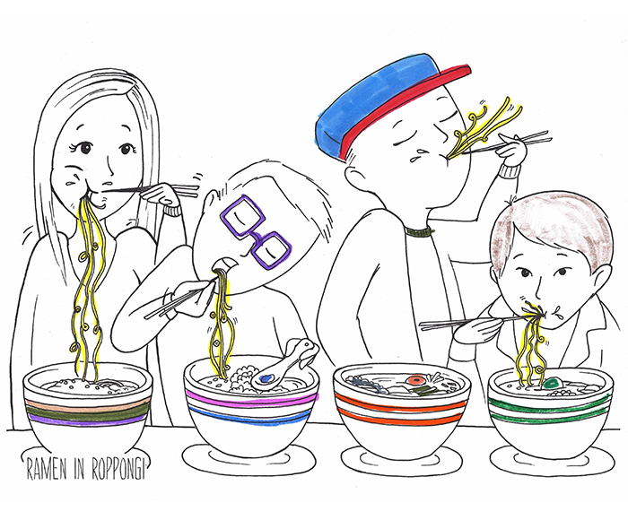 Ramen in Roppongi - Unique Coloring Books - Colorful Tokyo by Colorful Cities