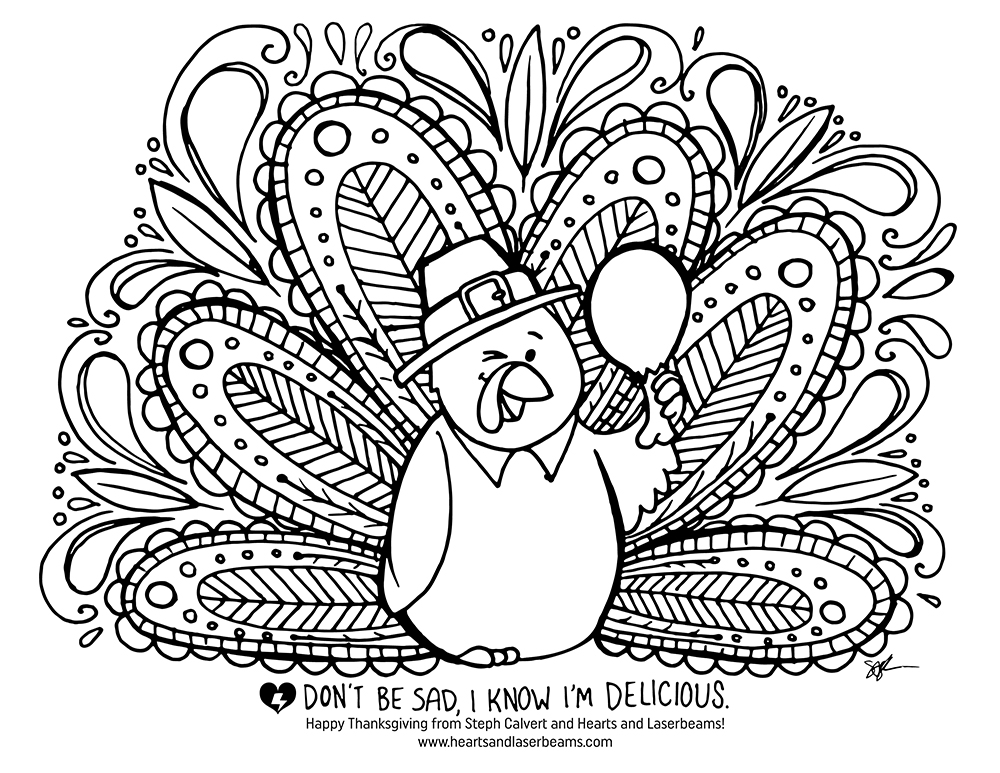 Free turkey coloring pages for thanksgiving for Thanksgiving coloring page free
