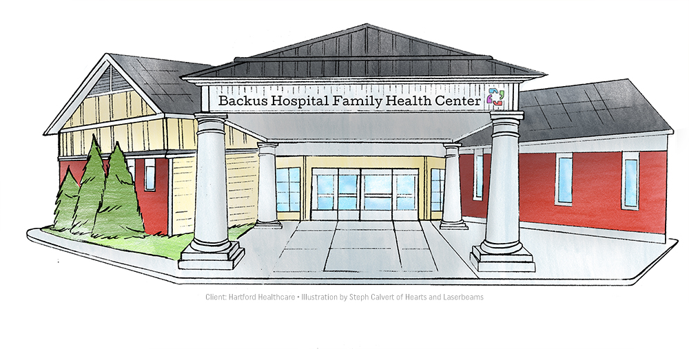 Building Illustrations for Hartford Healthcare