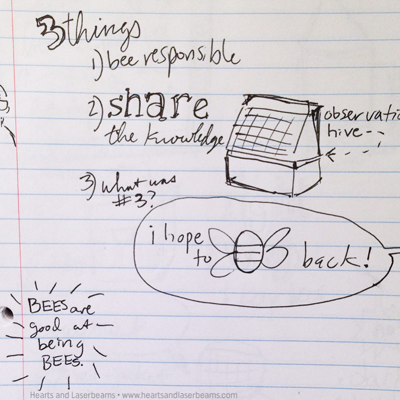 Hand Drawn Notes: Beekeeping Class