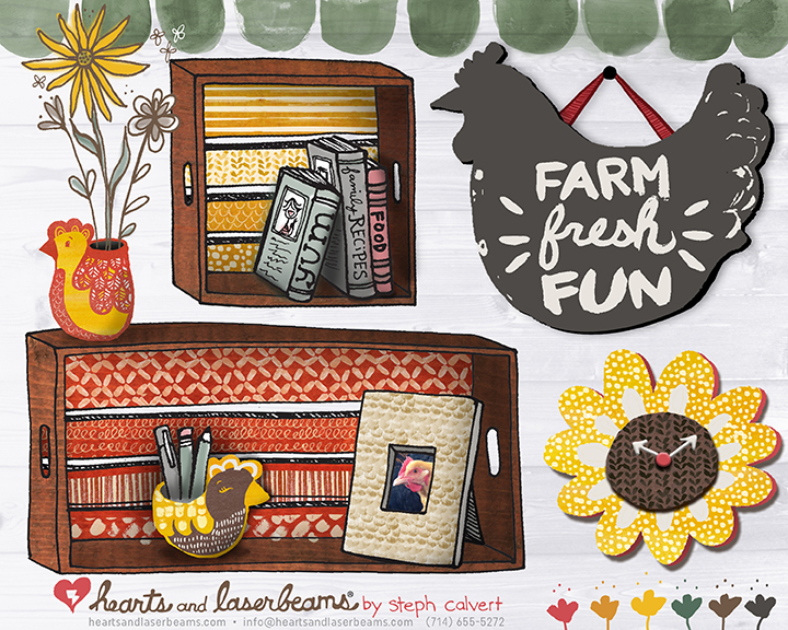 Farm Fresh Fun wood product concepts by Steph Calvert of Hearts and Laserbeams
