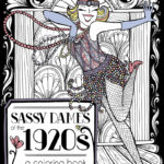 Adult Coloring Pages – Vintage 1920s Flapper Illustration