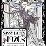 Adult Coloring Pages – Vintage 1920s Flapper Illustration