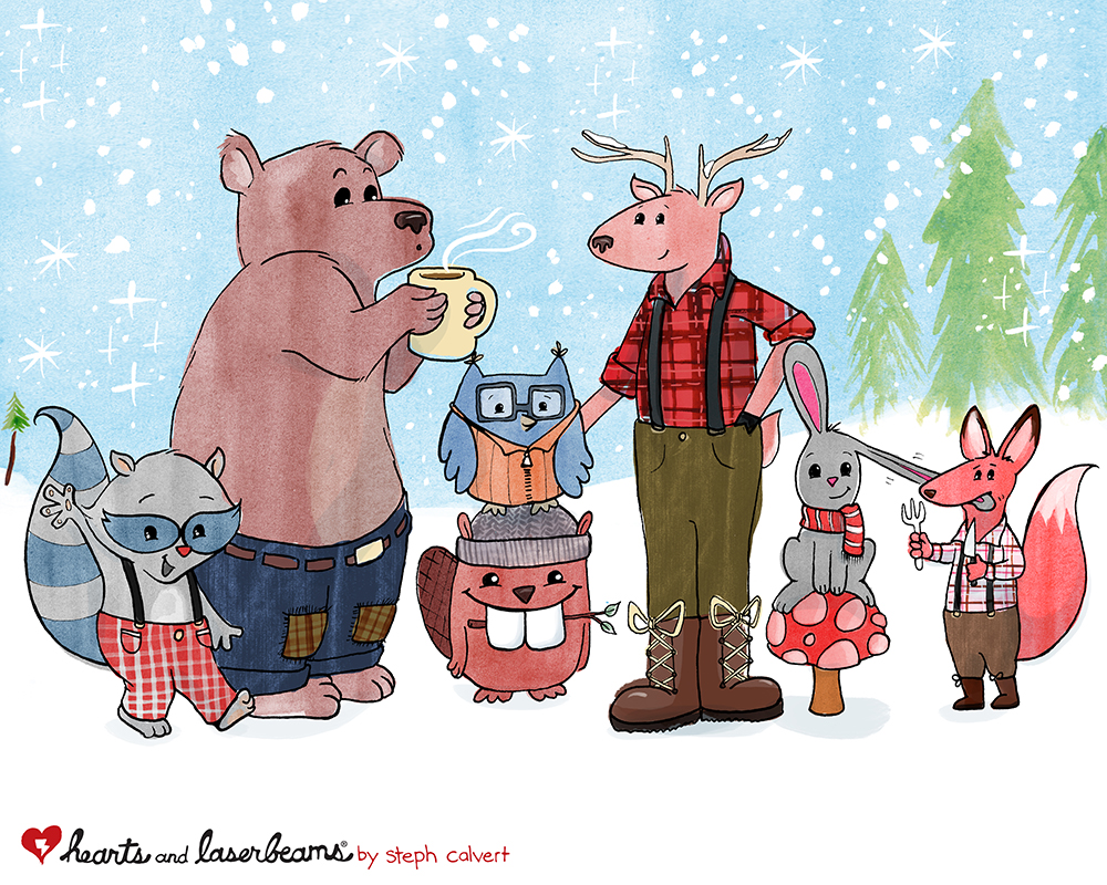 Character Design Concept: Cute Woodland Animals by Hearts and Laserbeams