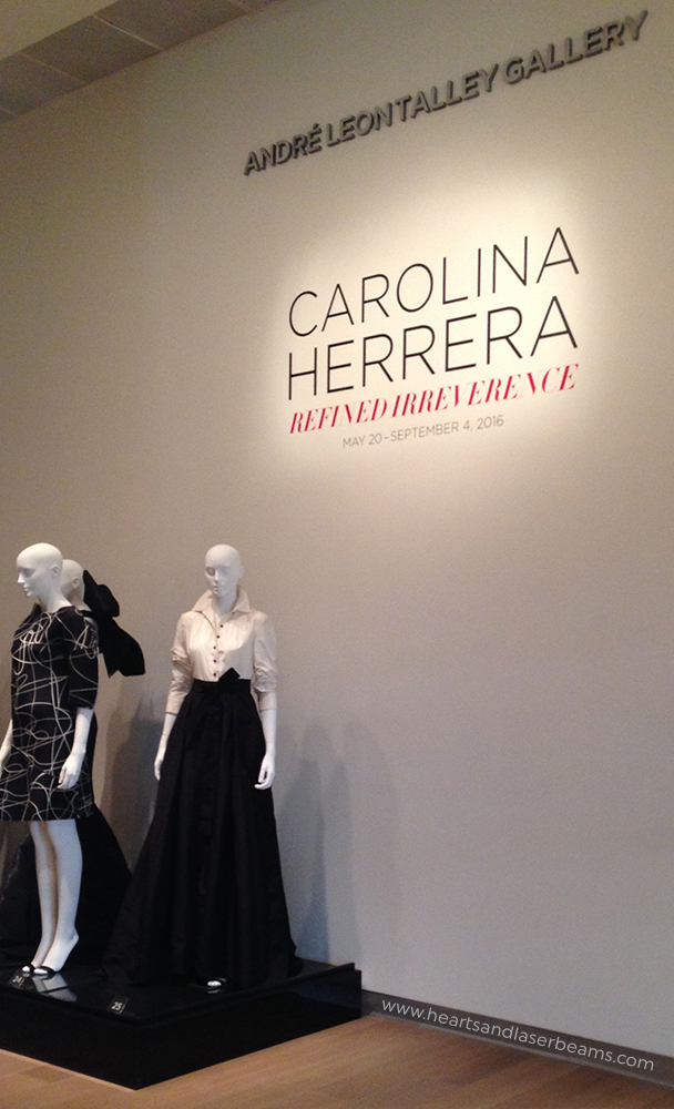 Selections from the Carolina Herrera show - Steph Calvert of Hearts and Laserbeams